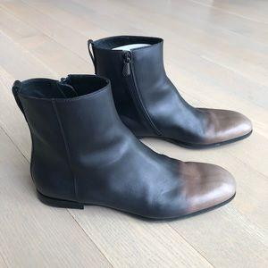 Bottega Veneta Side Zip Calf Leather Boots